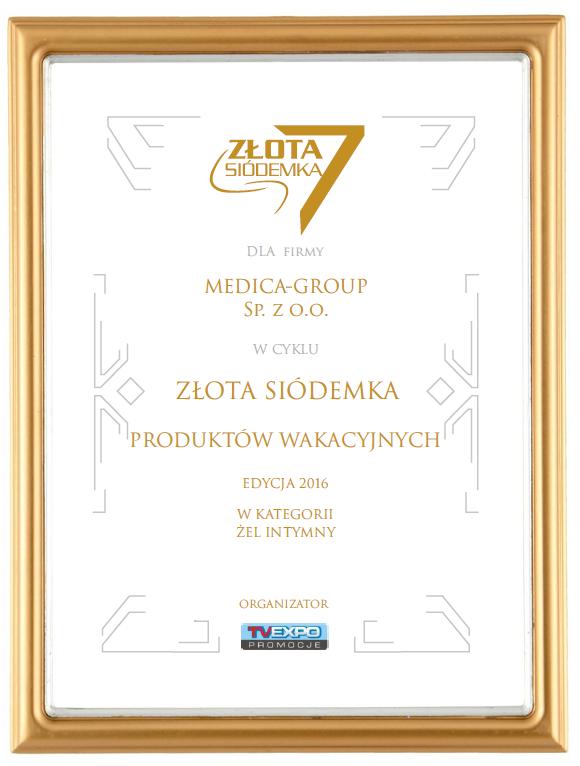 Laureat Nagrody ZŁOTA SIÓDEMKA